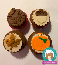 Thanksgiving cupcake toppers  - $38.00