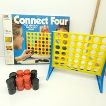 Vintage 1986 Connect Four Game Milton Bradley 4430 USA WITH EXTRA PIECES - $23.76