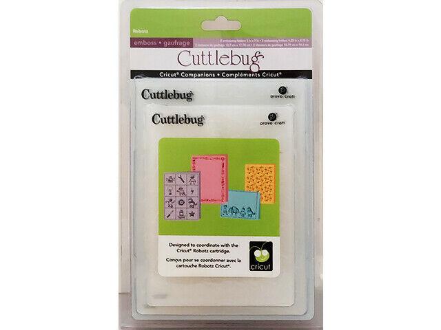 Provo Craft Cuttlebug Robotz Embossing Folder Set #2000413