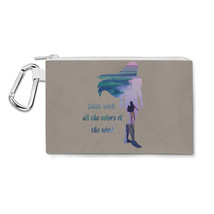 Pocahontas Disney Colors of the wind Quote Canvas Zip Pouch - $15.99+