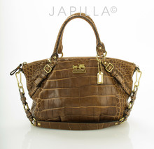 Coach 15924 Madison Sophia Brown embossed leather Satchel purse - £92.57 GBP