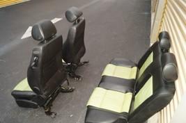 00-04 Volkswagen Vw Beetle Bug Hatchback Turbo GLS Leather Seat Set Green & BLK image 2