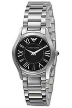 Emporio Armani AR2040 Ladies Super Slim Black Steel Watch - £86.01 GBP