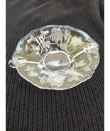 Heisey Rose Etched Dolphin Footed 515 Nappy Bowl - $19.75
