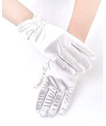 Women Double Bead Fingered Satin Short Gloves Banquet Party Wedding Prom... - €5,22 EUR