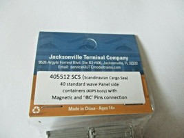 Jacksonville Terminal Company #405512 SCS 40' Standard Containers N-Scale image 2
