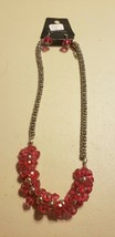 Paparazzi Short Necklace & Earring set (new) #711 THICK PINK BEADS - $7.61