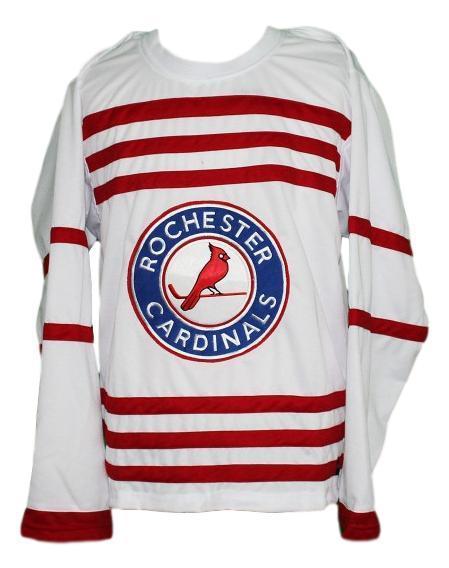 Custom name   rochester cardinals retro hockey jersey white   1