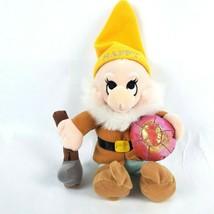 "Disney Store Snow White & 7 Dwarfs Happy 10"" Plush Dwarf Mining Pickaxe ... - $14.50"