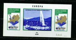HUNGARY 1973 103B IMPERF BLK MNH S/S EUROPA PAX GENF SAILBOAT MAP S11730-A1 - $78.21
