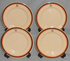 1950 Set (4) Inca Ware ELKS CLUB - B.P.O.E. No 563 Boone Iowa DESSERT/B&... - $31.67