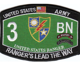 "4.5"" Army 3RD Battalion 75TH Ranger Regiment Embroidered Patch - $16.24"