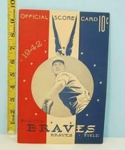 1942 Boston Braves Baseball Score Card v Brooklyn Dodgers Unused - $64.35