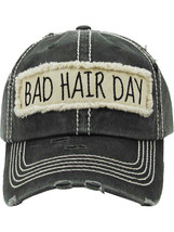 Distressed Vintage Style Bad Hair Day Hat Baseball Cap Runner Active Wear image 1