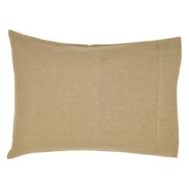 BURLAP NATURAL Pillow Case Set - 21x30 - Soft Cotton Farmhouse  - VHC Brands