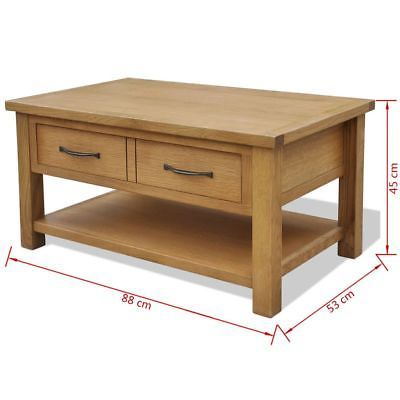 vidaXL Oak Coffee Table w/ Drawer Shelf Wooden End Couch Sofa Side Tea Stand image 5