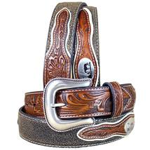 U-8-34 32-46 Inch Western Nocona Mens Belt Cowboy Prayer Concho Dark Chocolate - $56.95