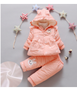 Snow suit,  Hooded Parker wear for baby girls, Clothing sets. - $45.99