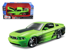 """2011 Ford Mustang GT Green """"All Stars"""" 1/24 Diecast Model Car by Maisto - $52.99"""