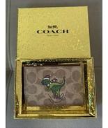 NWT Coach Signature Rexy Print Mini ID Skinny Beige/Gold Wallet  - $85.00