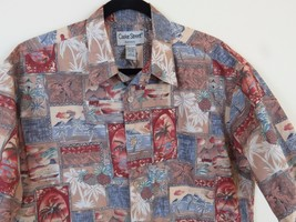 Cooke Street Honolulu Hawaiian Button Front Shirt Men's Size L - $13.51