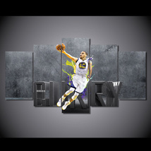 5pcs stephen curry nba superstar printed canvas wall art picture home decor  thumb200