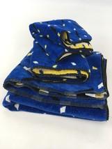 3pc Set VTG 80s 90s Springmaid Towels Memphis Funky Hand Bath Washcloth ... - $53.85