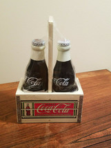 The Coca-Cola Co. Porcelain Salt & Pepper Shakers In Wood Crate (NEW) - $19.75