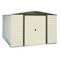 Storage Shed w/ Floor Kit Vinyl Coated Steel Finish 10 x 6 Outdoor Garde... - $700.49