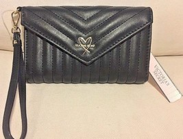 Victoria's Secret Black Billfold Wristlet Back with removable strap New W TAGS - $15.83