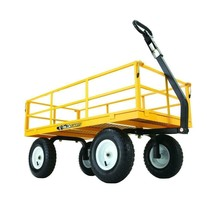 Outdoor Garden Equipment 1200 lbs Steel Utility Cart Heavy Duty Removabl... - $174.38