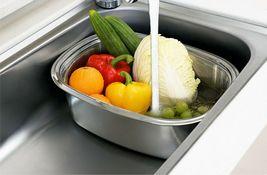 Kitchen Flower Stainless Steel Basin Dishpan Dish Washing Bowl Basket Rectangle image 7