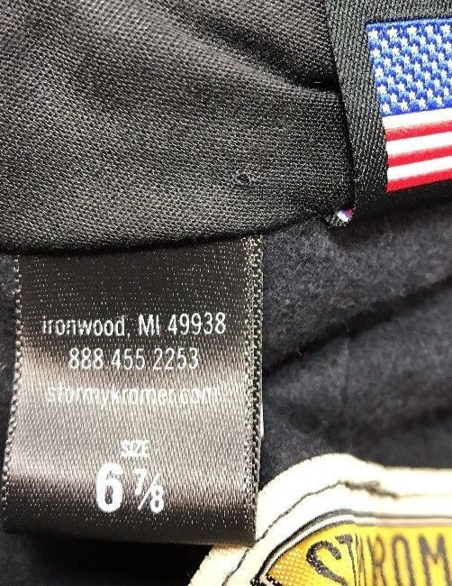 Stormy Kromer Cap Red Black Sz Wool Made in USA Hat Baseball Engineer 6 7/8 image 9