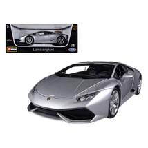 Lamborghini Huracan LP610-4 Silver 1/18 Diecast Car Model by Bburago 11038s - $56.67