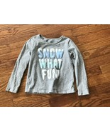 Girl's Gap Snow What Fun Long Sleeve T-Shirt Size 5 Years - $4.99
