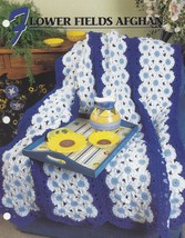 Flower Fields Afghan, Annie's Crochet Afghan and Quilt Pattern Leaflet Q... - $3.95