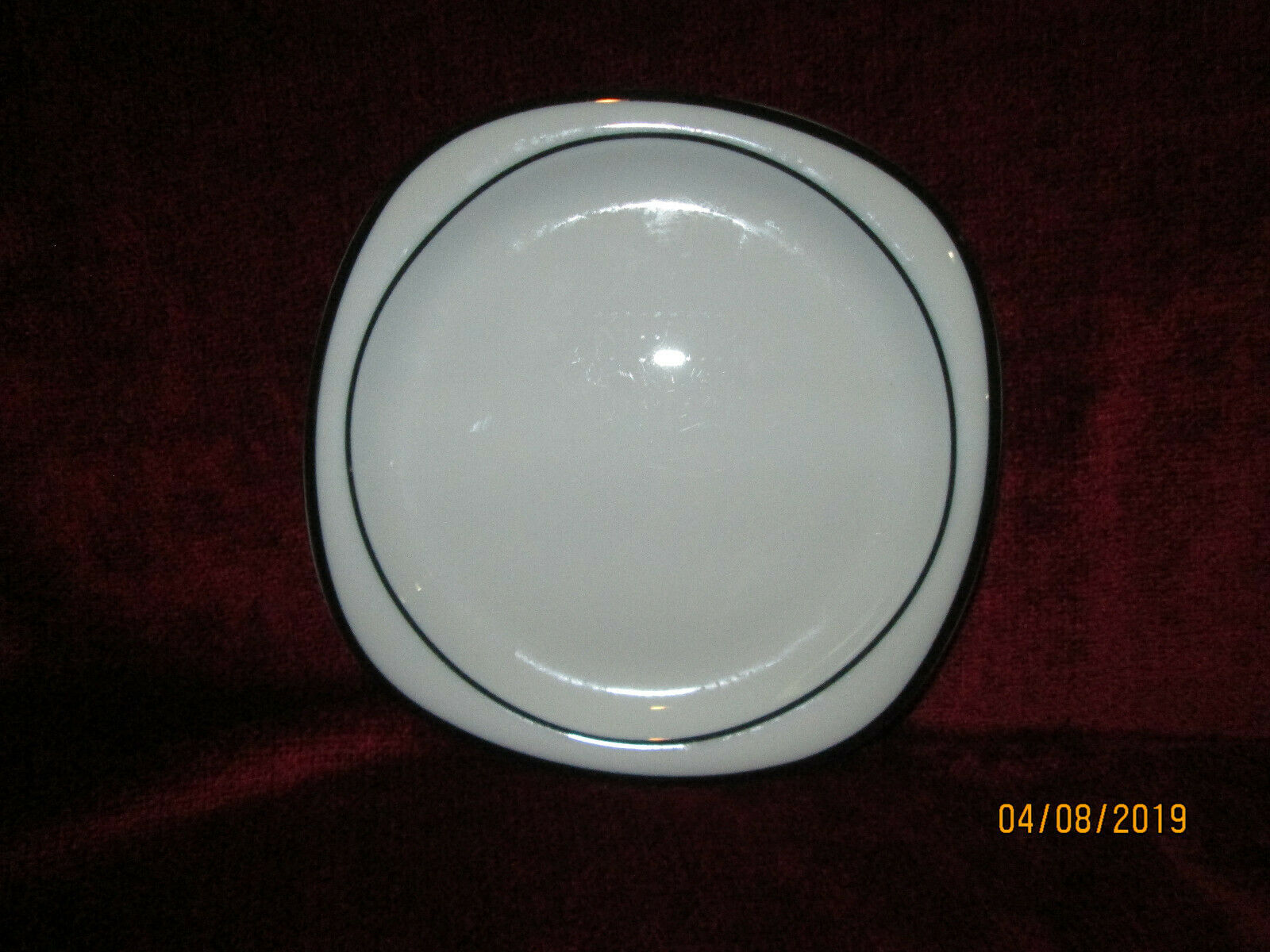 Primary image for ROSENTHAL CONCEPT 5 ANTHRACITE black salad plate 7 5/8""