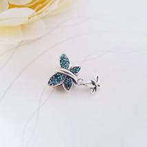 Sterling Silver Butterfly Bead Fit for Pandora Bracelet European Snake C... - $22.90