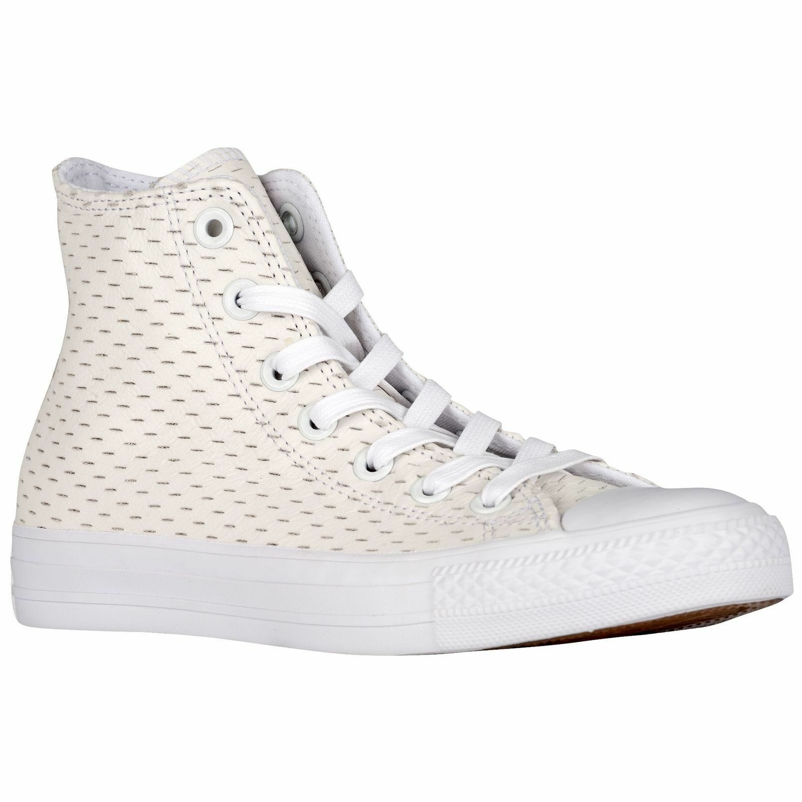 Converse All Star Leather High White Out Pack White/Gold 153115C Mens Shoe