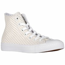 Converse All Star Leather High White Out Pack White/Gold 153115C Mens Shoe - $59.95