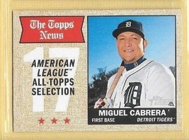 2017 Topps Heritage The Topps News Miquel Cabrera #364 Tigers - $0.99