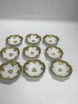 Imperial Nippon Hand Painted Porcelain Ceramic Vintage Dish 9 Pieces Gold - $49.49