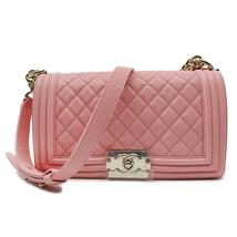 Chanel Pink Quilted Caviar Medium Boy Flap Bag A67086 B00317 N0897 - $6,999.00