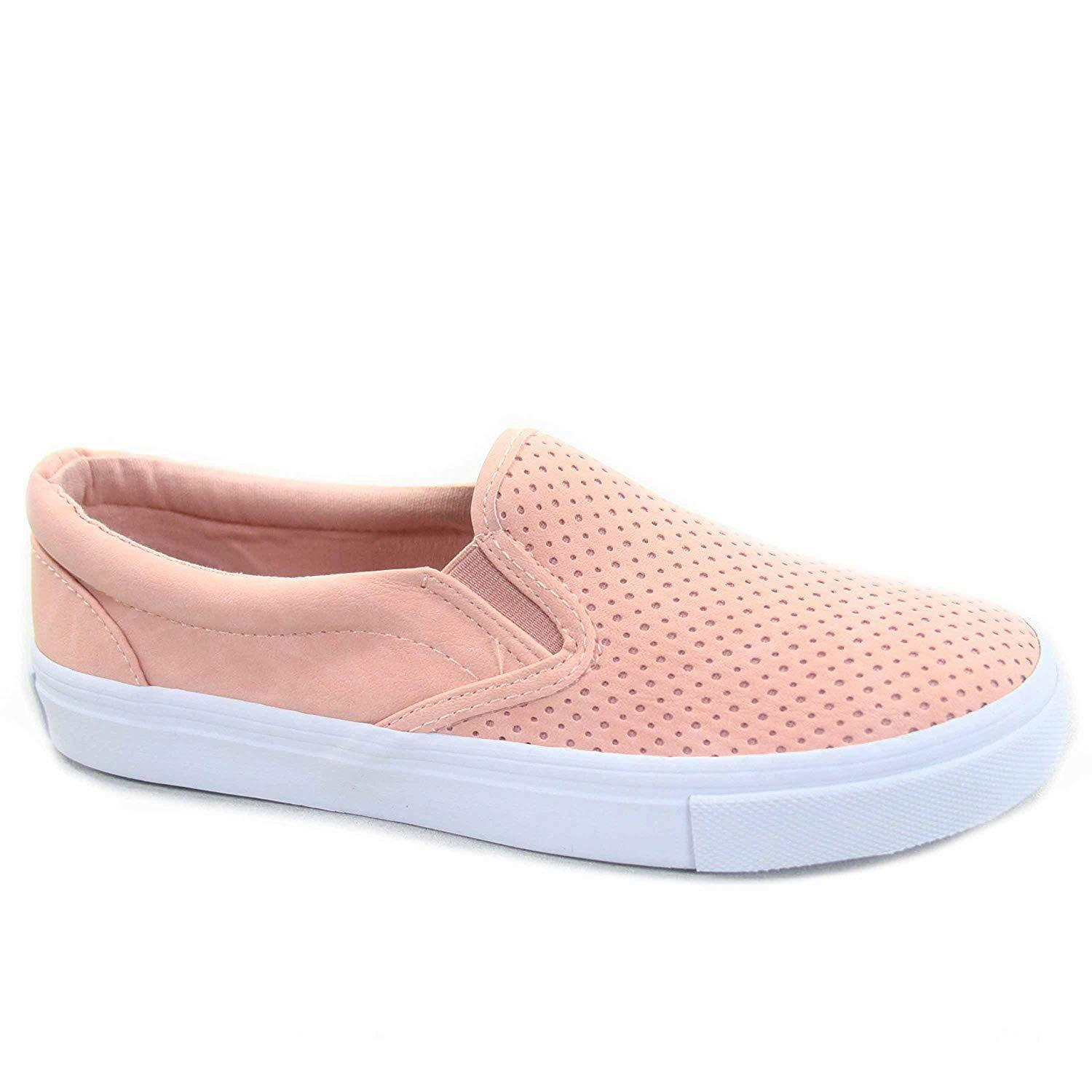 Soda Tracer-S Women's Cute Perforated Slip On Flat Round Toe Sneaker Shoes image 7