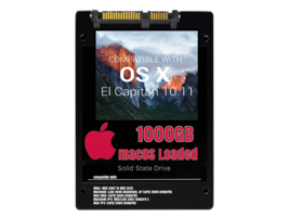 macOS Mac OS X 10.11 El Capitan Preloaded on 1000GB Solid State Drive - $199.99