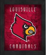 "Louisville Cardinals ""Retro College Logo Map"" 13x16 Framed Print  - $39.95"