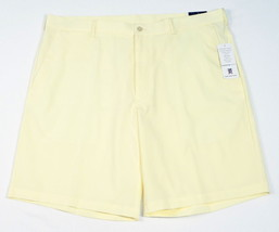 PGA Tour Yellow Clubhouse Golf Shorts Flat Front Mens NWT - $41.24