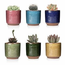 T4U 2.5 Inch Ceramic Ice Crack Zisha Raised Serial Succulent Plant Pot/C... - $13.77
