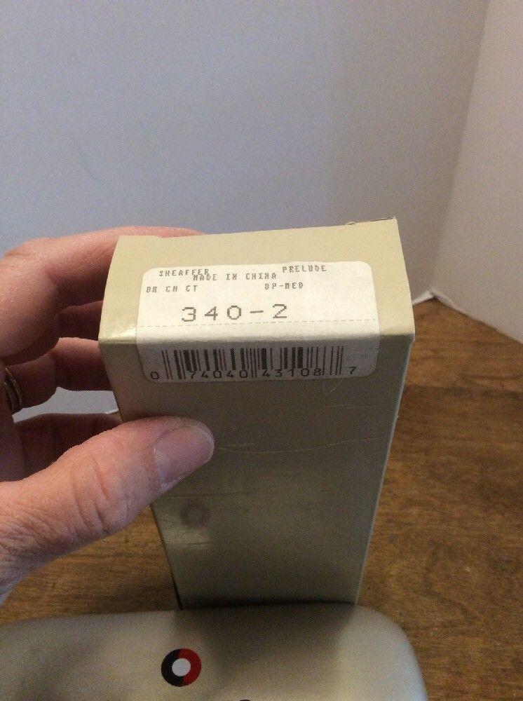 Sheaffer Prelude Brushed Chrome /Nickel Trim Ballpoint Pen- NEW 340-2