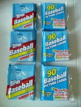 Lot of 3 - 1992 Topps Jumbo Pak Major League Baseball Cards UNOPENED - $5.00
